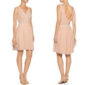 Maje | Frasera Blush Grecian Dress Pleated Chiffon